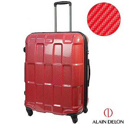 ALAIN DELON 亞蘭德倫 25吋TPU系列拉鍊行李箱(紅)