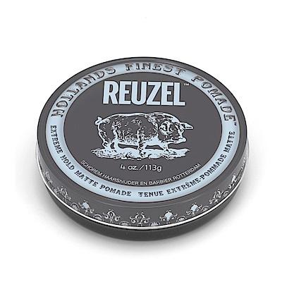 荷蘭 REUZEL豬油 灰豬極強水泥級無光澤髮蠟 4oz/113g 水洗式髮油