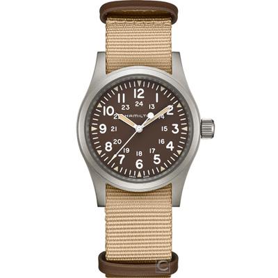 (無卡分期6期)Hamilton漢米爾頓Khaki Field 軍風機械錶(H69429901)