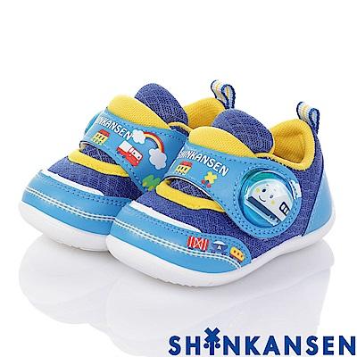(雙11)ShinKanSen新幹線 透氣抗菌學步電燈童鞋-藍