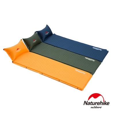 Naturehike 自動充氣 帶枕式單人睡墊-急