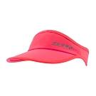 【ZEPRO】魔鬼氈慢跑中空Velcro遮陽帽-珊瑚紅