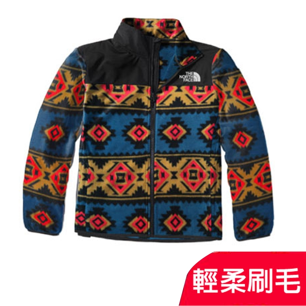 The North Face 青少年款 TKA 100 輕柔刷毛抓絨保暖外套夾克_部落藍 product image 1