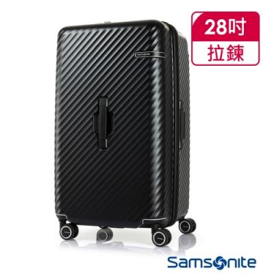 Samsonite新秀麗 28吋 Stem 2/8 開闔PC抗震雙輪SPORT運動箱(黑)