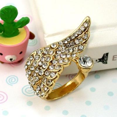 iSFairytale伊飾童話 天使翅膀 華麗鑲鑽翅膀戒指