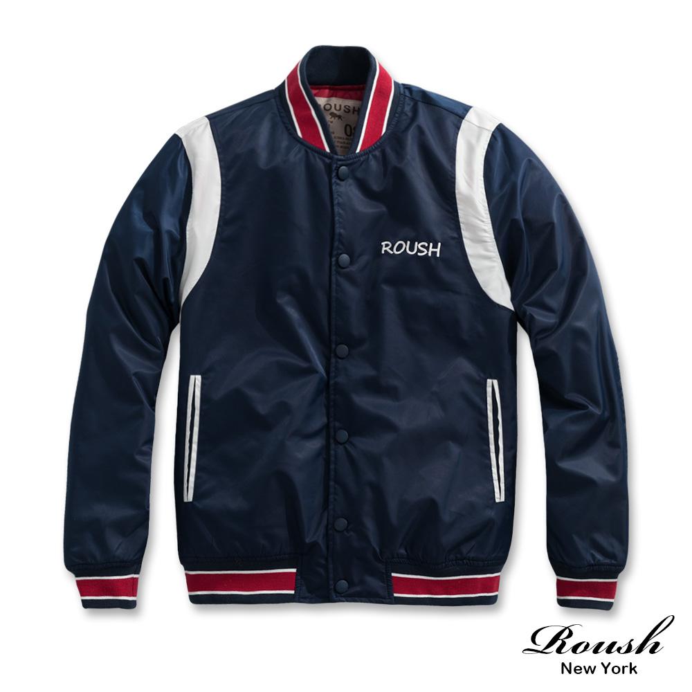 Roush 美式復古風格鋪棉棒球外套(2色)