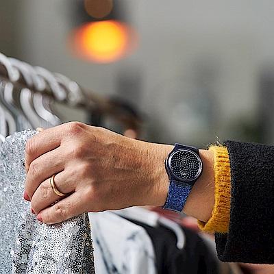 Swatch Gent 原創系列手錶 BLUMINO 藍色閃耀-34mm