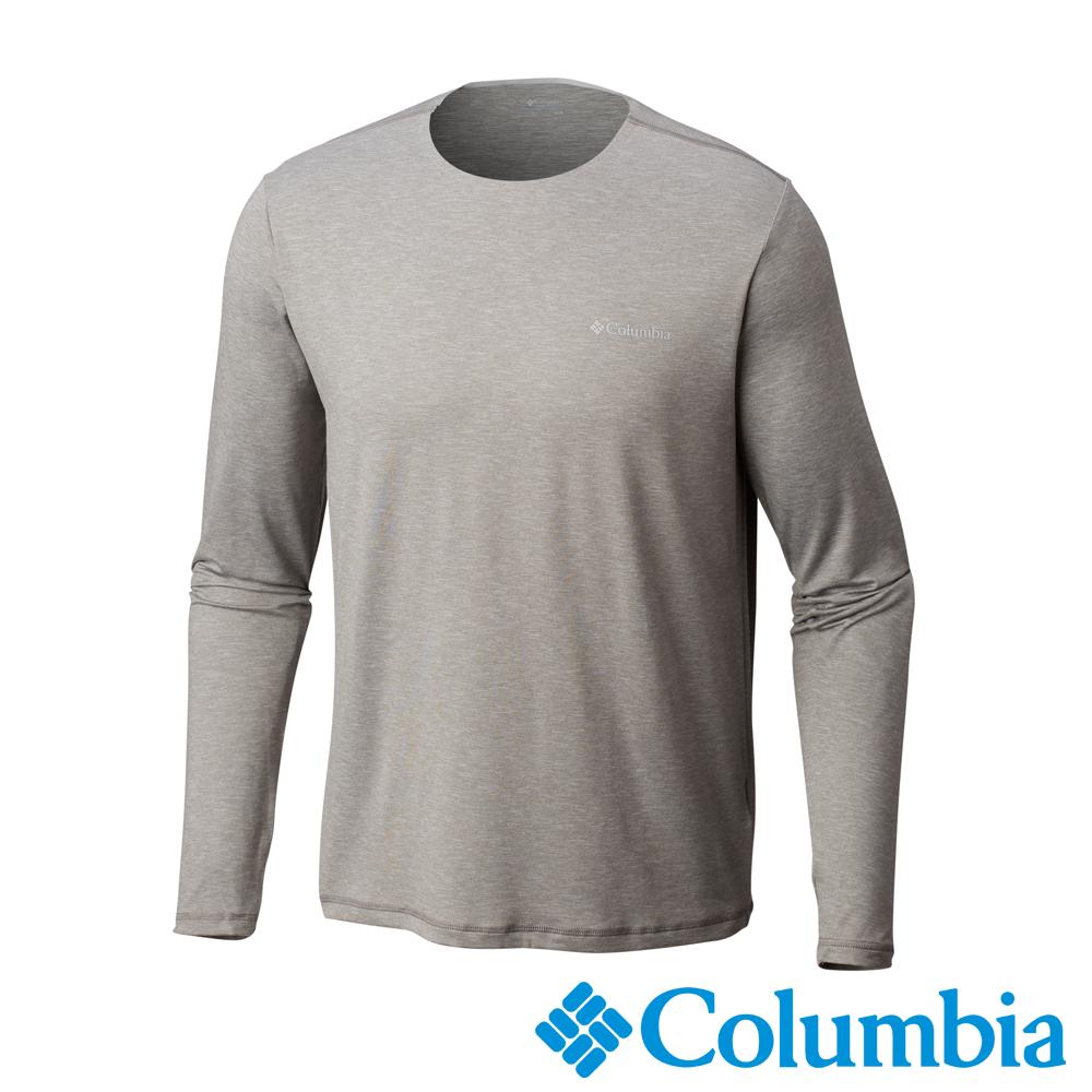 Columbia哥倫比亞 男款-Omni-SHADE 防曬50快排長袖上衣-灰色