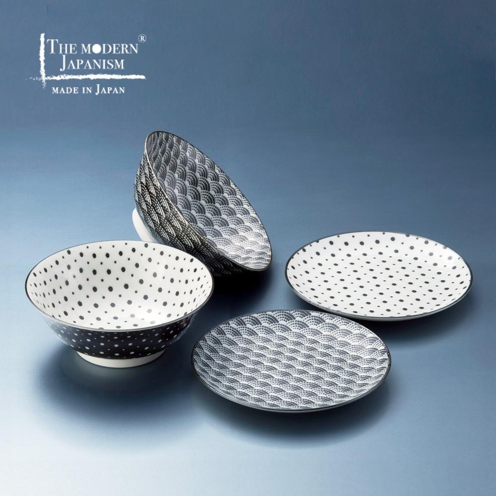 有種創意 日本美濃燒 - 小紋碗碟組 (4件式)