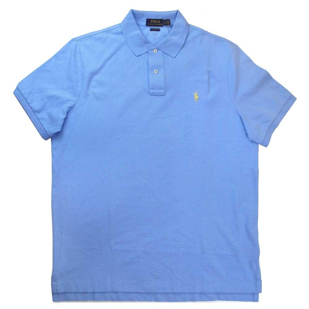 Polo Ralph Lauren 小馬Logo天空藍色短袖網眼Polo衫(Classic Fit)