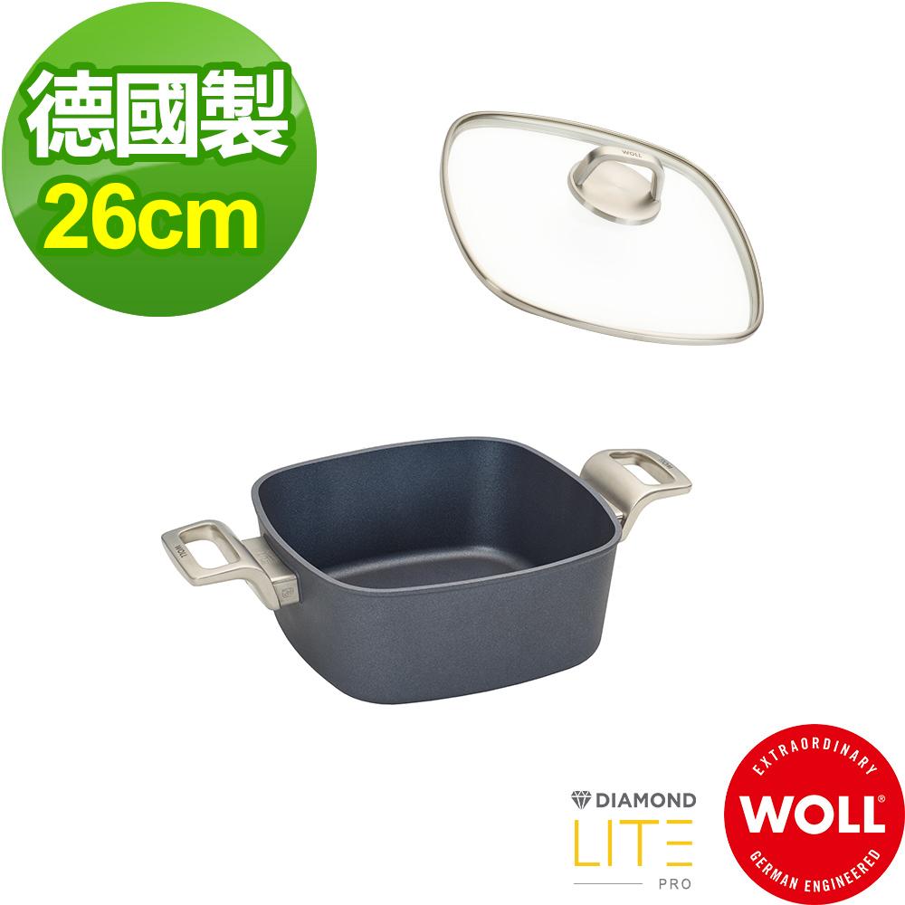 德國 WOLL Diamond Lite Pro 鑽石系列26cm 方型湯鍋(含蓋)