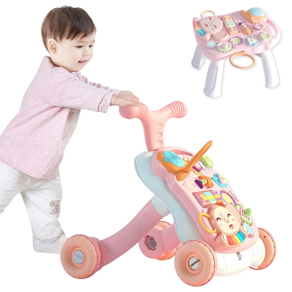 colorland兒童玩具 投球音樂學步車可變學習桌