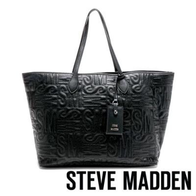 STEVE MADDEN-SMBOPRAH 經典SM品牌精神購物托特包-黑色