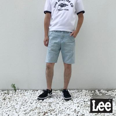 Lee 牛仔短褲 RG 男款 淺藍色水洗