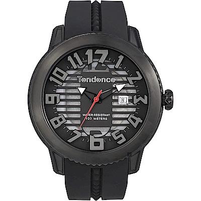 Tendence 天勢圓弧系列透視手錶-黑/47mm(TY013002)