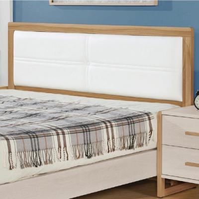 文創集 比特利 現代5尺皮革雙人床頭片(不含床底&床墊)-151.5x7.5x97cm免組