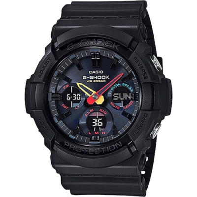 CASIO 卡西歐 G-SHOCK 東京霓虹太陽能手錶(GAS-100BMC-1A)