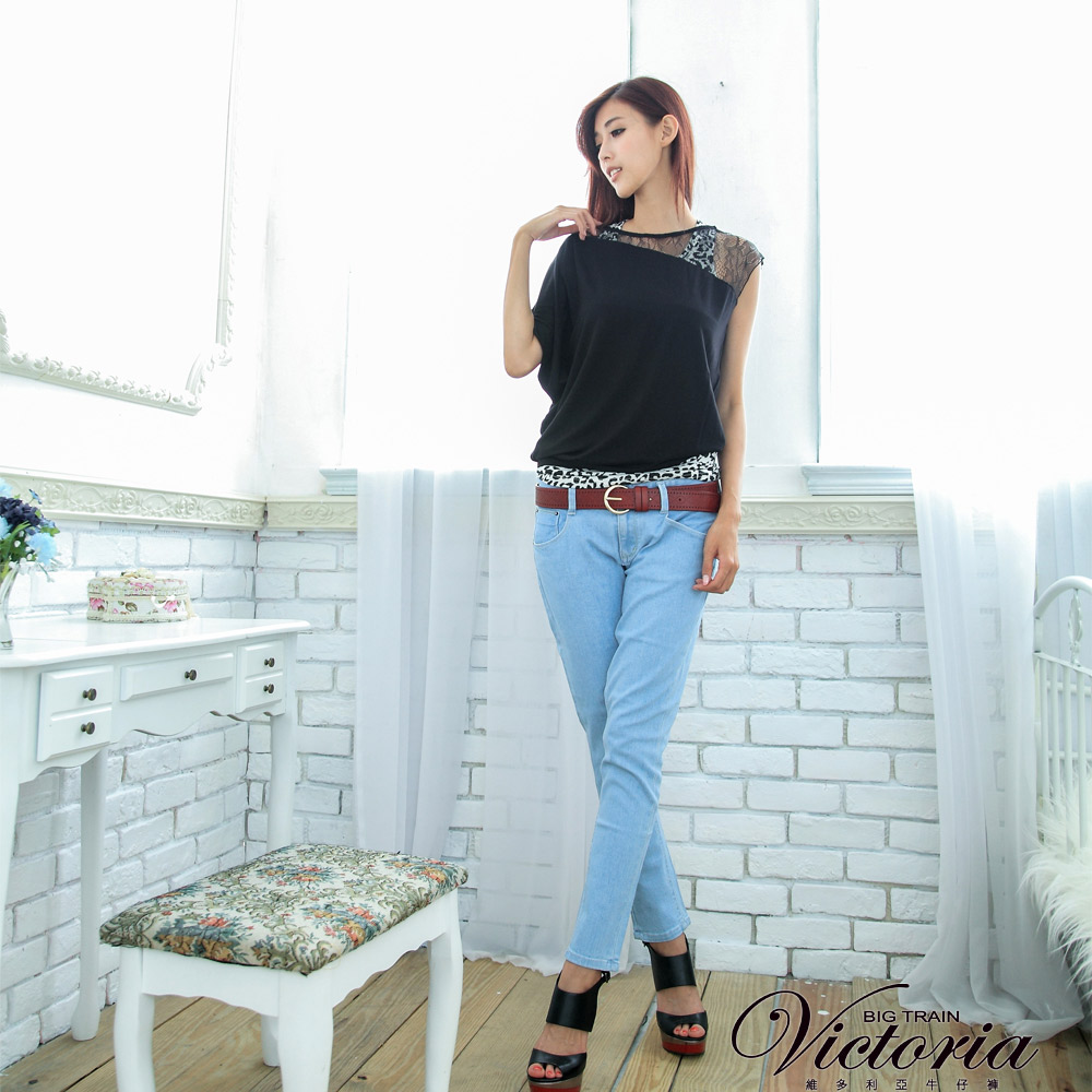 Victoria 淺藍男友褲-女-淺藍