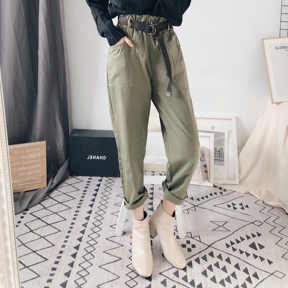 DoMiss率性綁帶軍裝褲(3色)