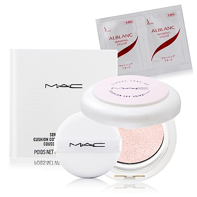 M.A.C 發光萬能氣墊 SPF 50/PA    12g 專櫃清潔卸妝試用包(隨機)X1