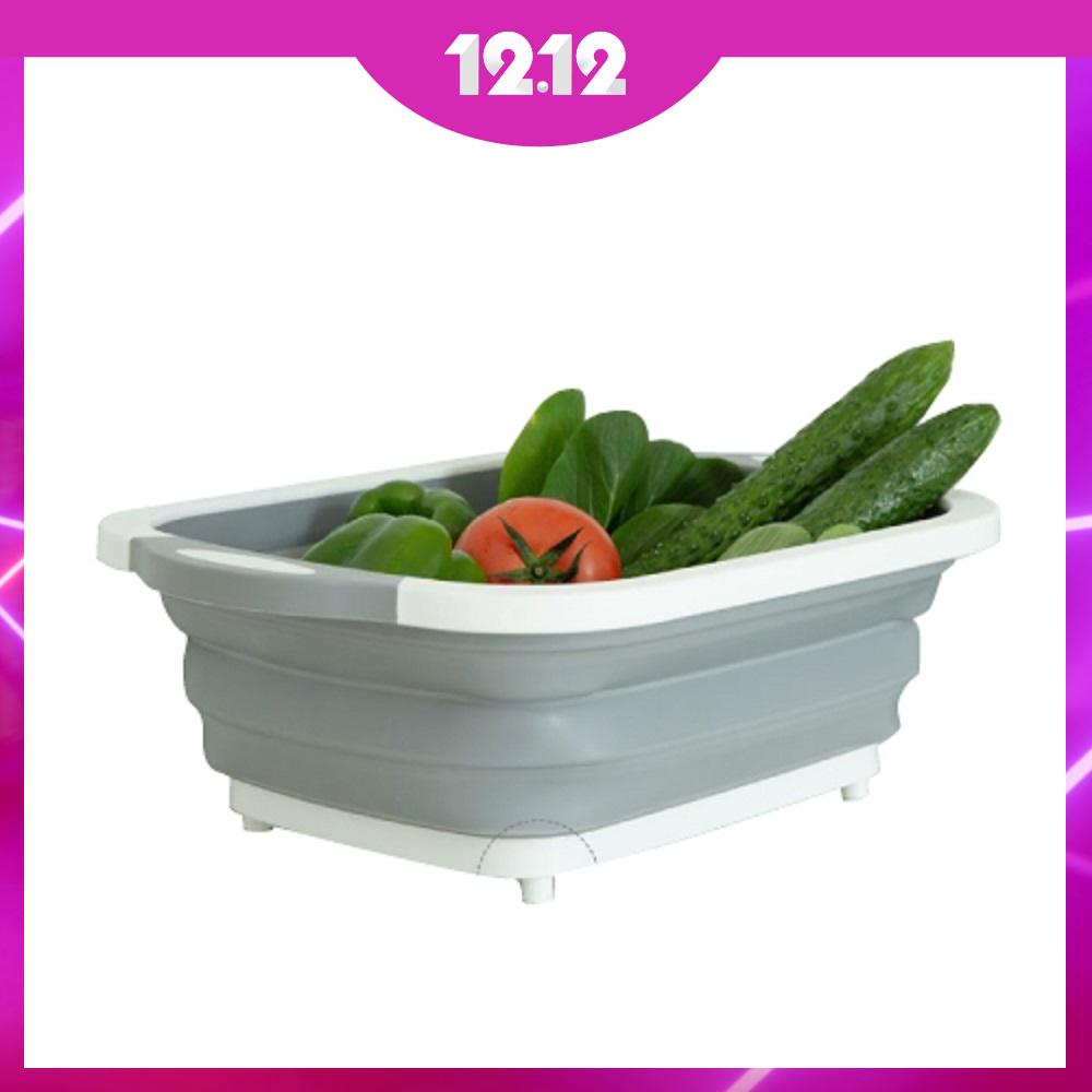 (買一送一)多功能折疊果蔬瀝水籃40x30cm