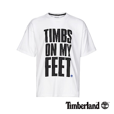 Timberland 男款白色字母印花T恤|A1YEM