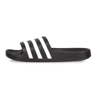 ADIDAS 女 運動拖鞋 黑白