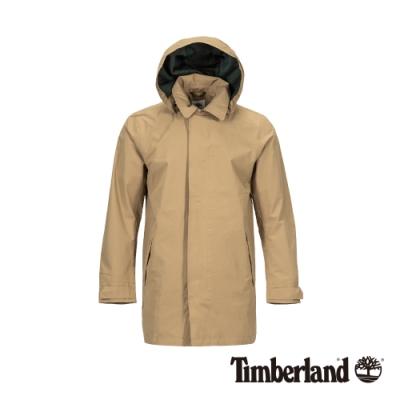 Timberland 男款卡其色墨綠迷彩連帽風衣外套 A1NEO