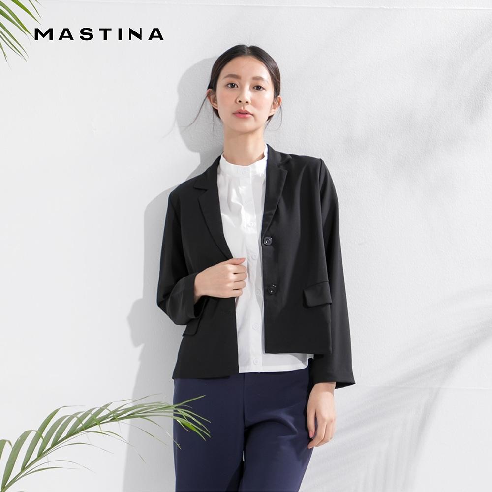 【MASTINA】經典款簡約素面-外套(二色/魅力價格)