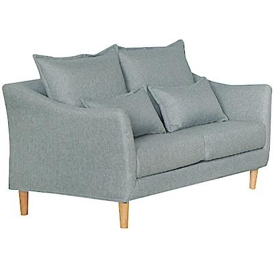 綠活居 沐恩時尚灰亞麻布二人座沙發椅-142x85x79cm免組