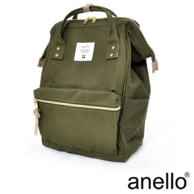 anello 經典口金後背包基本款 卡其綠 Large