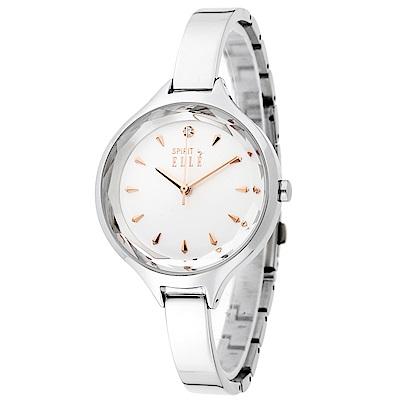 ELLE 美麗亮眼時尚女錶-時尚銀34mm