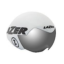 【LAZER】VICTOR 三鐵/計時安全帽 白