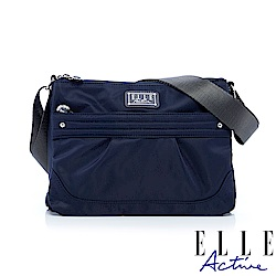 ELLE Active 優雅隨行系列-多夾層側背包/斜背包-深藍色