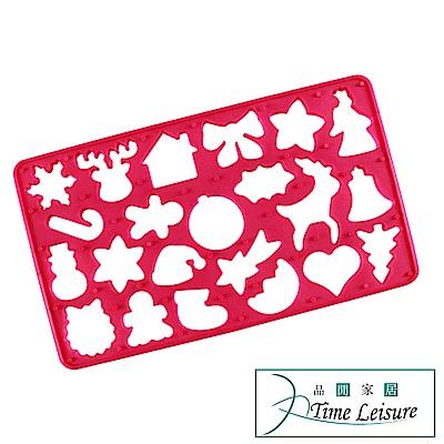 Time Leisure 聖誕節造型一次性餅乾模/烘焙工具/糕點壓模(紅)