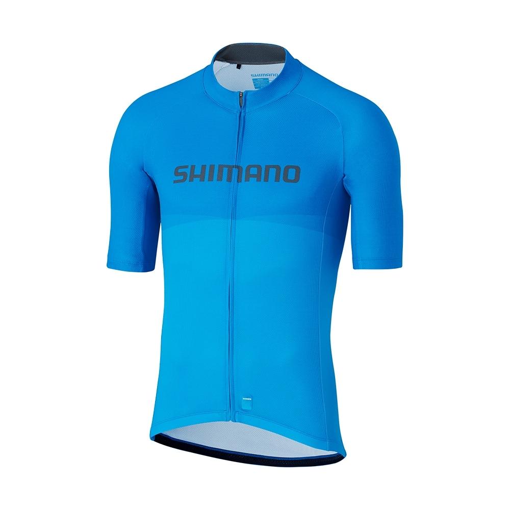 【SHIMANO】TEAM 男款短袖車衣 藍