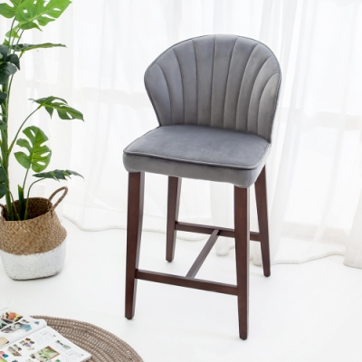 Bernice-貝絲實木吧台椅/吧檯椅/高腳椅(矮)-43x54x90cm