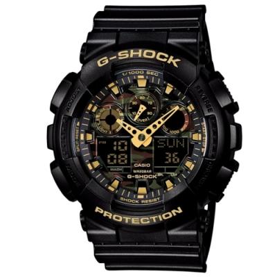 CASIO G-SHOCK/引領時尚潮流運動錶GA-100CF-1A9DR