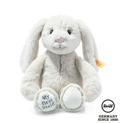 STEIFF德國金耳釦泰迪熊  My first Steiff Hoppie Rabbit  灰色小兔子(嬰幼兒玩偶)