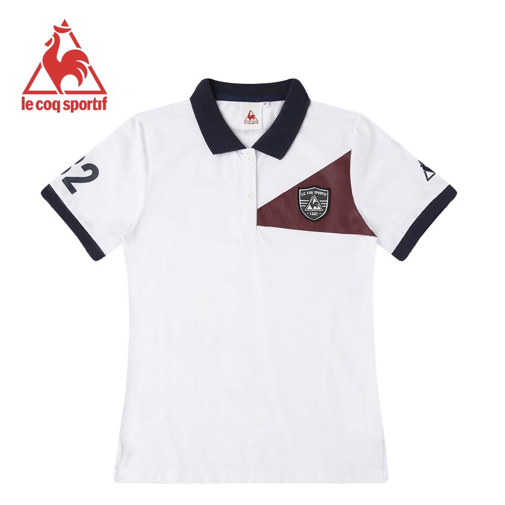 le coq sportif 法國公雞牌短袖POLO衫 女-白