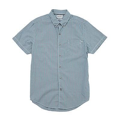 Timberland 男款藍色短袖襯衫 | A1LY1J12