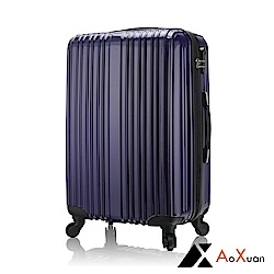 AoXuan 28吋行李箱 PC硬殼旅行箱 瘋狂旅行(海軍藍)