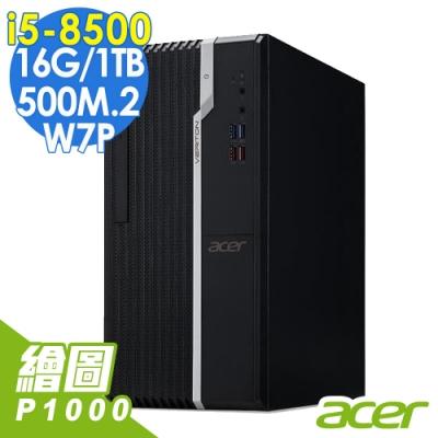 ACER VS2660G繪圖電腦i5-8500/16/1T+500M2/P1000/W7P