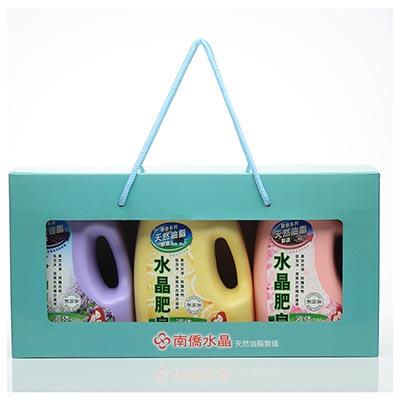 南僑水晶肥皂馨香液体禮盒三入組