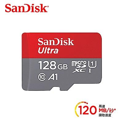 [時時樂限定]SanDisk Ultra microSDXC UHS-I (A1)128GB記憶卡120MB/s