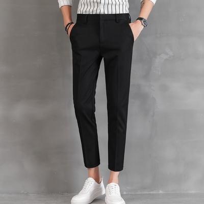 男士休閒修身西裝褲-長褲、九分褲