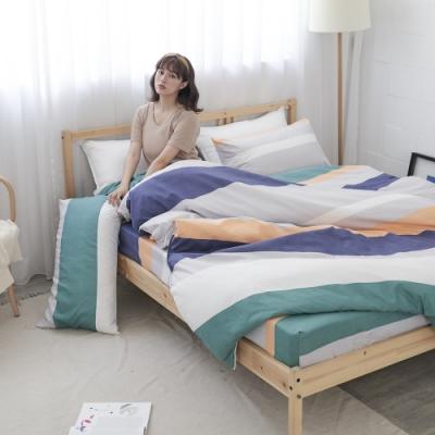 BUHO 雙人加大四件式薄被套床包組(樸居靜寓)