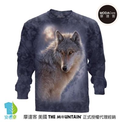 摩達客 美國進口The Mountain 冒險狼 純棉長袖T恤