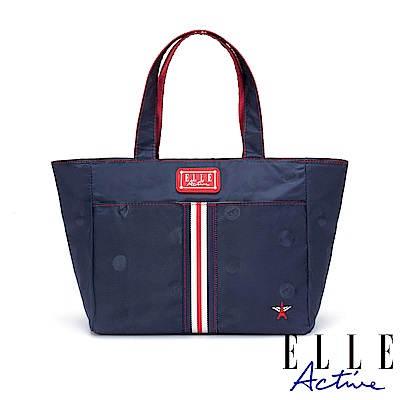 ELLE Active 經典復刻系列-托特包/購物袋/手提袋-小-藍色