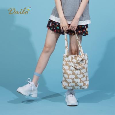 【Dailo】童話森林小熊們蛋糕-褲裙(二色)